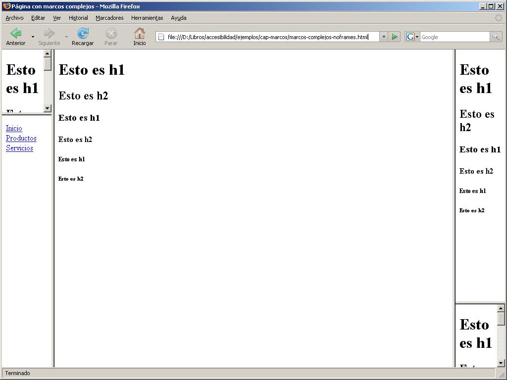 Accesibilidad Web: 8. Marcos