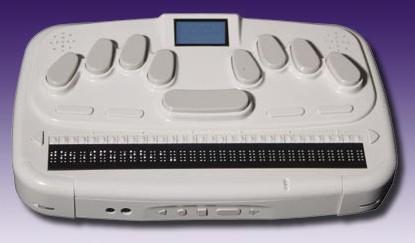 Línea y teclado braille BrailleSense